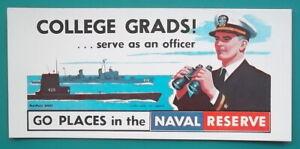 NAVAL-RESERVE-College-Grads-Captain-Submarine-Destroyer-Pics-1960s-INK-BLOTTER