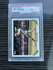 MARK McGWIRE A's 1993 Topps Baseball Card #100 PSA 10