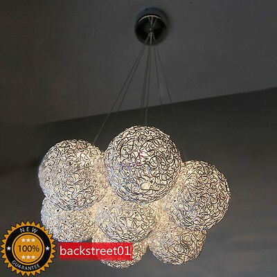 New Modern 7 Lights Aluminum Wire Shade Pendant Lamp Chandelier Lighting Fixture