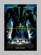 THE INCREDIBLE HULK CASTX3 PP SIGNED POSTER 12X8 new