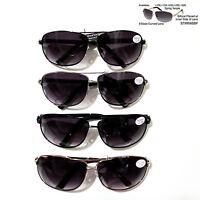 Retro Spring Hinge Metal Frame Sunglasses Bifocal Reader Max Uv Protection