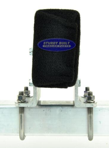 "2 10/"" Aluminum L-Shaped Cypress Bunk Board Brackets Boat Trailer Bolster"