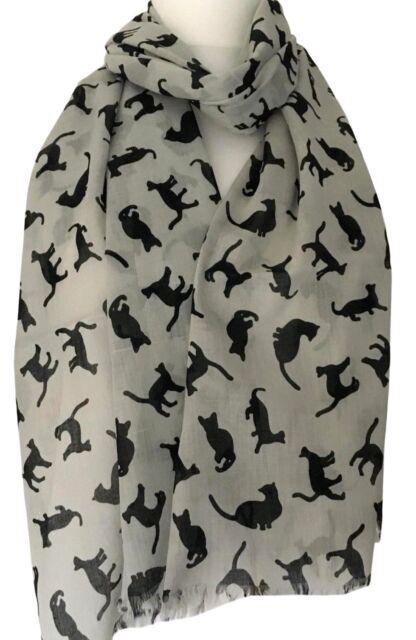 Silver Grey Scarf Cotton Blend Pashmina Wrap Fair Trade Ladies Shawl New Bnwt