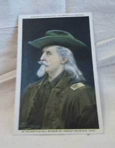 Rare-Postcard-Buffalo-Bill-Painting-by-Arthur-Jule-Goodman-Johnny-Baker-Lookout