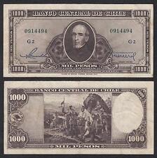 Chile   1000 Pesos  ND 1947-1959 Pick 116(4)  MBC = XF