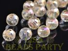 20pcs 8mm 96 Facets Round Faceted Loose Spacer Glass Beads Bulk Crystal Yellow