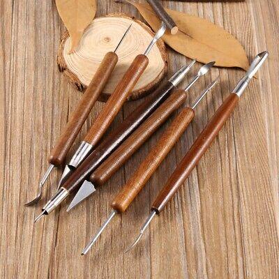 Escultura De Madera Herramientas De Cer/ámica De Cer/ámica De Arcilla Herramienta De Mango De Madera Talla Sculpting Brush Herramientas De Modelado Hobby Cer/ámica Con Bolsa De Almacenamiento De