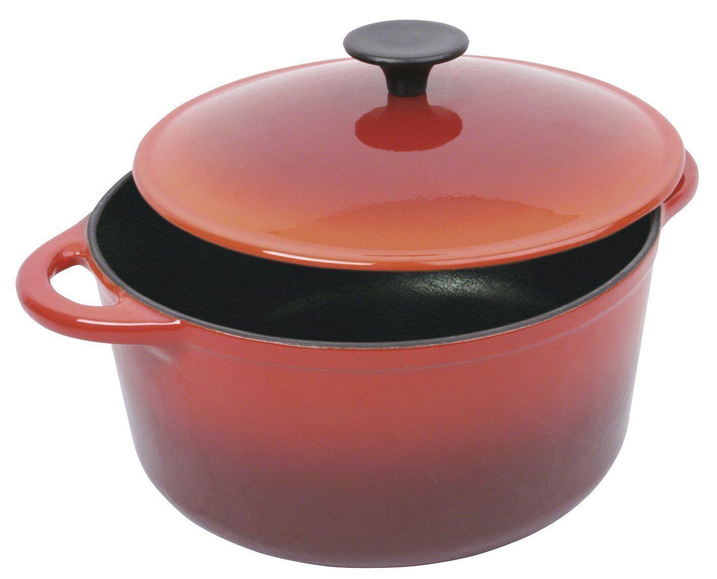 Crealys 501805 Cocotte Ronde Rouge Flamme 4 L Diamètre  24 cm