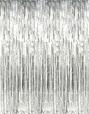 2M/3M Metallic Gold Foil Fringe Curtains Hanging Streamers for Prom Party Favors