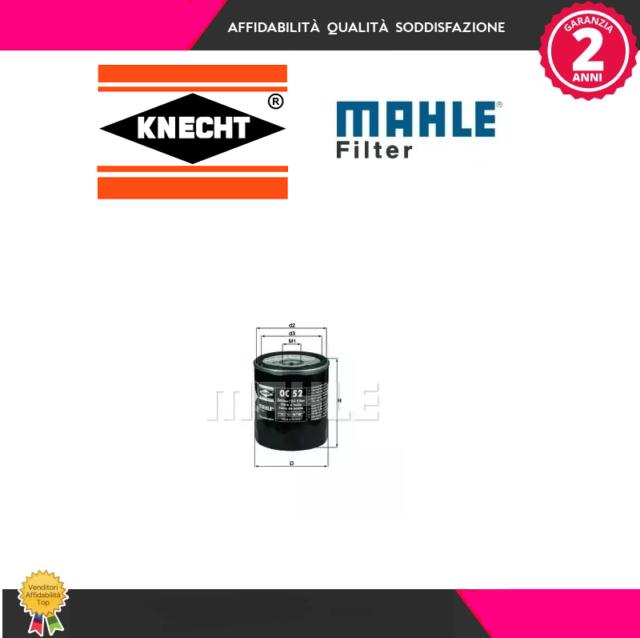 OC52 Filtro olio Subaru (MARCA-KNECHT,MAHLE)