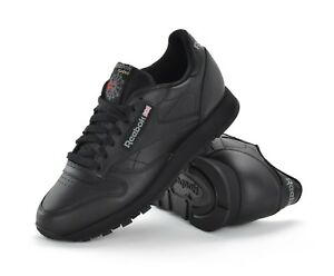 Image is loading REEBOK-CLASSIC-LEATHER-MENS-TRAINERS-BLACK-2267-BRAND- c6e6459b1