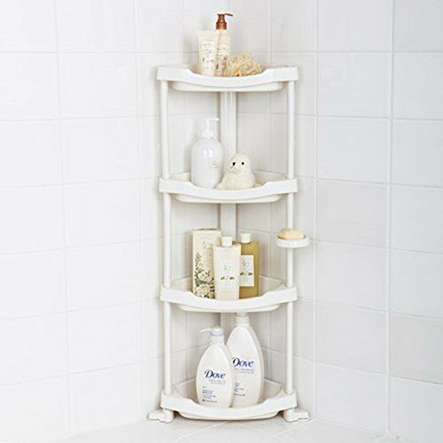 Shower Shelf Organizer Corner Storage Caddy Bath Rack Holder - 4 ...