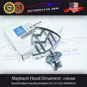 MAYBACH 57 62 W240 ORIGINAL Hood Emblem Logo Badge Ornament A2408800088