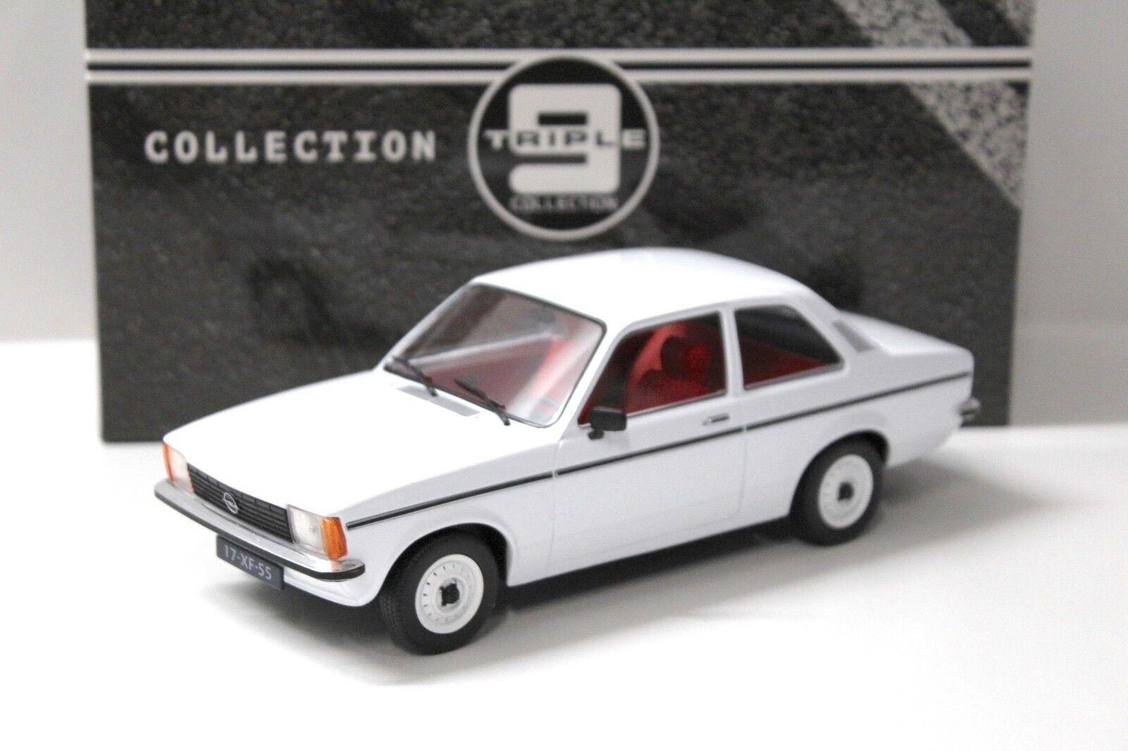 1 18 triple 9 Opel Kadett c2 bianca 1977 2-Doors New en Premium-modelcars