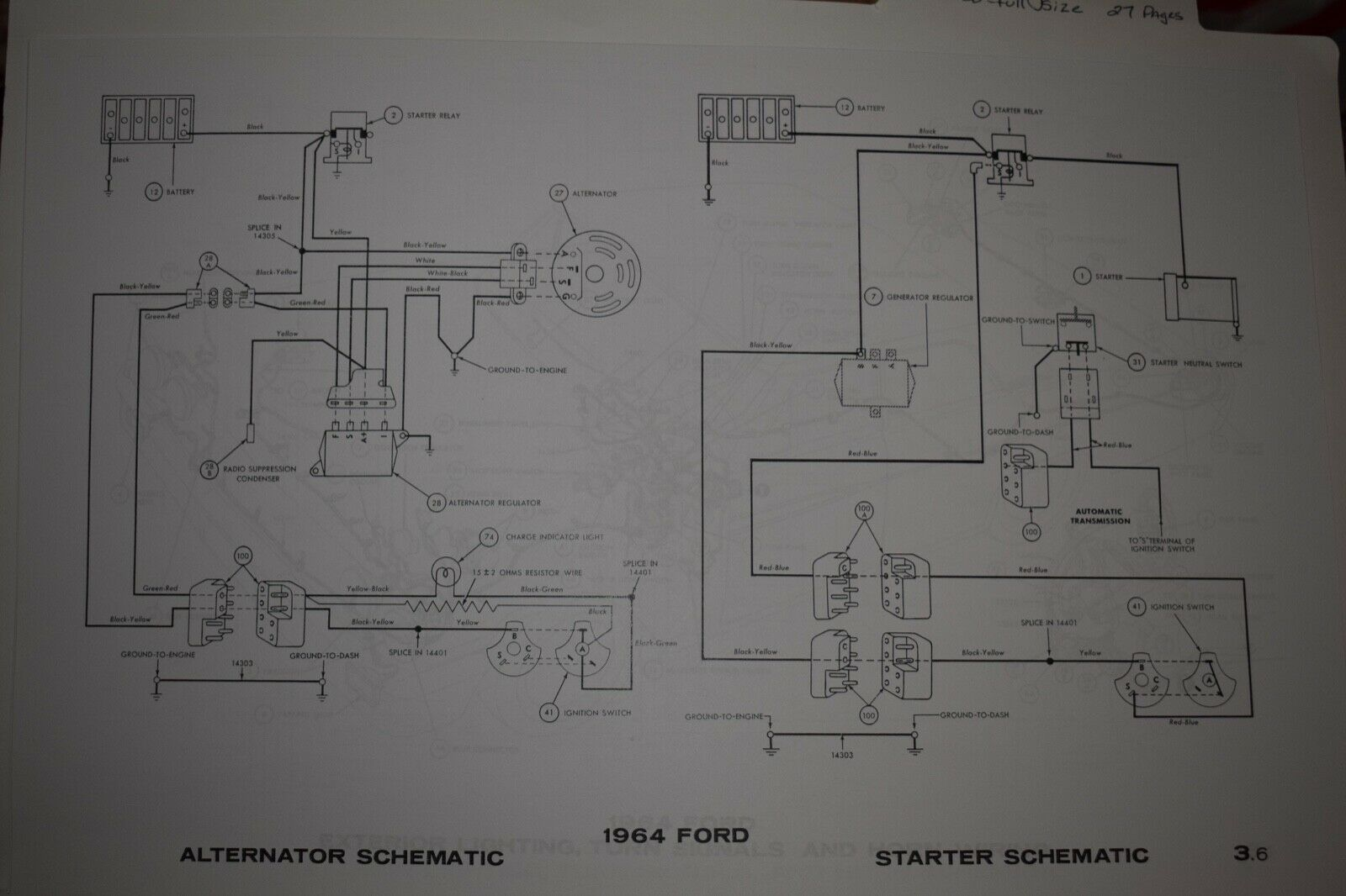 Falcon 1964 Lighting System And Horns Wiring Diagram All About