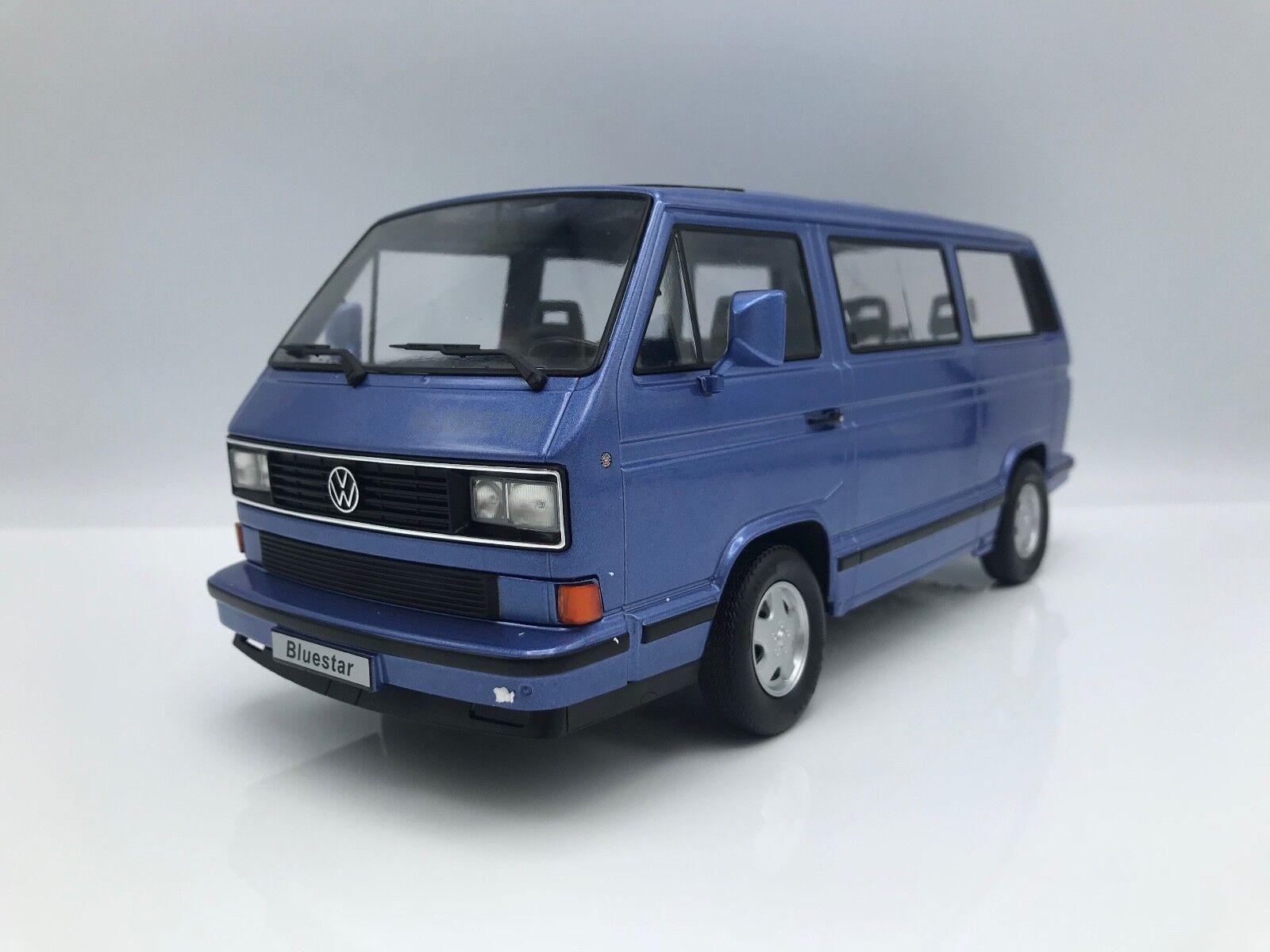 VW Bus t3 Multivan bulli blu Star 1993-metallico-BLU - 1 18 KK-scale    nuovo