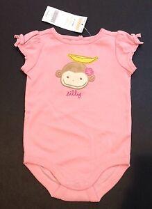 NWT Gymboree Monkey Island Pink Baby Girl/'s Bib Silly Monkey w// Banana on Head
