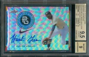 2016-Leaf-Perfect-Game-HUNTER-GREENE-Etched-Holo-Pink-4-7-BGS-9-5-Auto-BGS-9