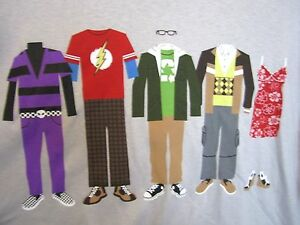 822339d9235 Image is loading T-Shirt-BIG-BANG-THEORY-S2-CAST-CLOTHES-