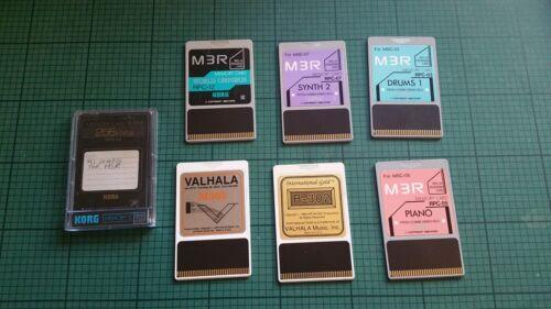 Valhala Korg MR3 memory cards Synth2 Drums1 Piano World Omnibus 256kbit RAM