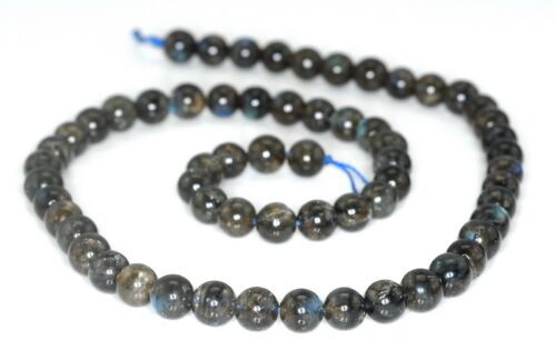 6MM BEAUTY LABRADORITE GEMSTONE DARK ROUND LOOSE BEADS 16/""