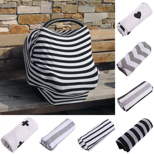 Newborn Multi-Use Stretchy Infant Nursing Cover Baby Car Seat Canopy Cart Cover