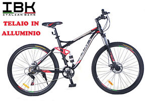 BICICLETTA-BICI-MOUNTAIN-BIKE-MTB-BIAMMORTIZZATA-29-034-IN-ALLUMINIO-FRENI-A-DISCO