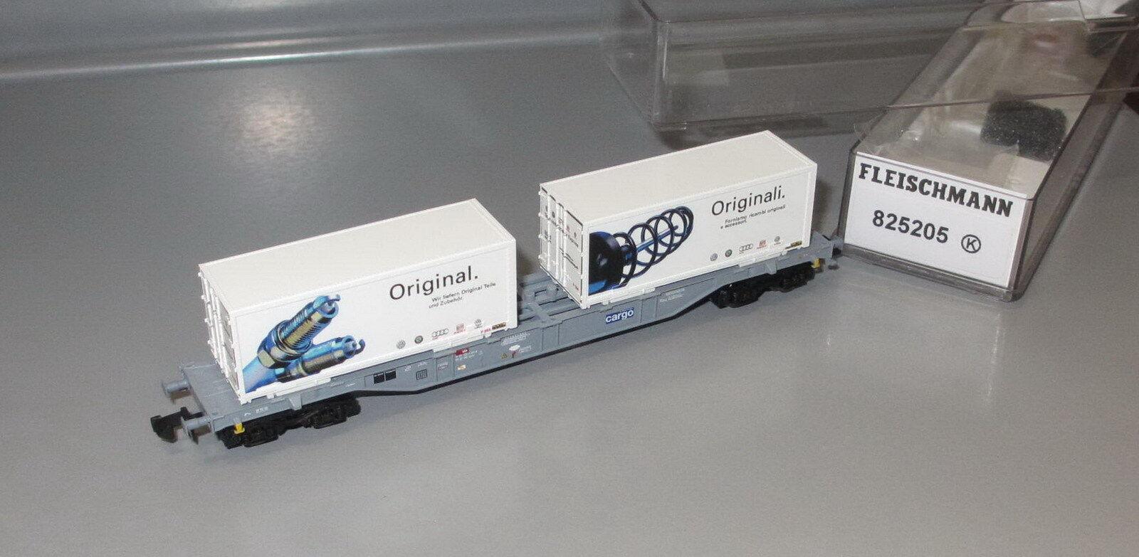 Fleischmann N 825205 _ _ _ Containertragwagen  AMAG , SBB _ Epoche VI_ N384  | München  a351fe