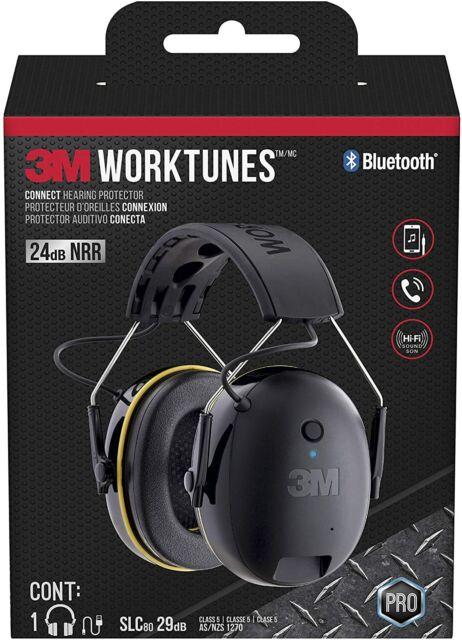 3M Worktunes Wireless Protector Earmuff Bluetooth Headphones AS/NZS1270 Class 5