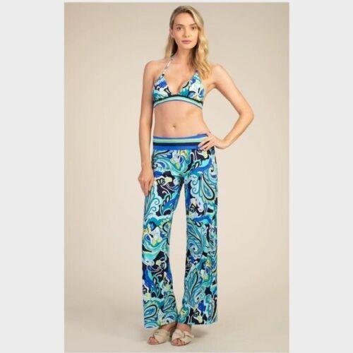 TRINA TURK - Swimsuit Coverup Pants Ipanema Blue