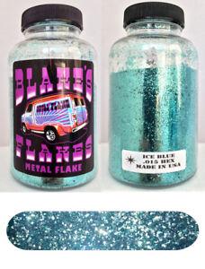 Blakes Métal Flocon .015 Lumière Bleu Glacier Hot Rod Custom Automobile 5oz Jar