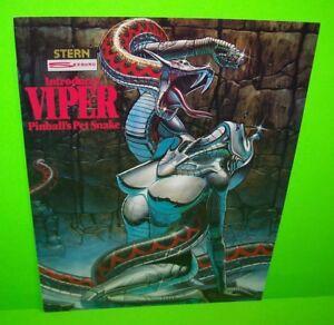 VIPER-Pinball-Machine-FLYER-Original-Promo-Game-Artwork-STERN-1981-Double-Sided
