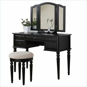 Poundex Bobkona St. Croix F4071 Bedroom Vanity Set with Stool ...