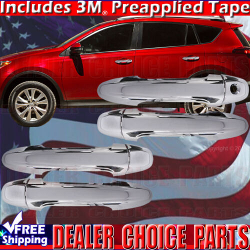 2013 2014 2015 2016 2017 2018 Toyota RAV4 Chrome Door Handle Covers No Smart Key