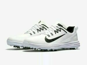 NIKE-LUNAR-COMMAND-2-GOLF-SHOES-MENS-SIZE-10-5W-WIDE-WHITE-BLACK-849969-100