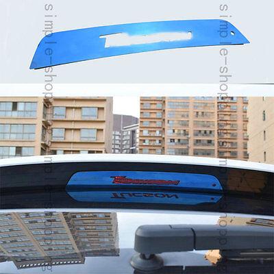 Stainless High Position Brake Lamp Blue Cover Trim Blue For Hyundai Tucson 16-17