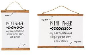 Frugal Chic Magnétique En Bois Affiche Cadre Photo Parchemin Print Artwork Hanger À Faire Soi-même Wall Art-afficher Le Titre D'origine
