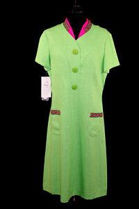 DEADSTOCK-VINTAGE-1960-039-S-GREEN-RAYON-SILK-BLEND-DRESS-SIZE-10