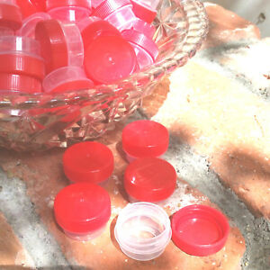 50-RED-Cap-JARS-container-Used-for-Hummingbird-feeders-1-tsp-1-4-oz-USA-3301
