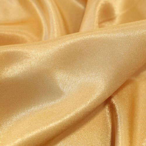 gold Crepe SATIN-Taft Meterware Gardine Vorhang Deko-Stoff
