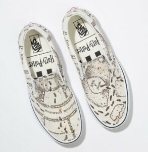 Details about Vans x Harry Potter Slip On Marauders Map Classic White Mens & Kids Size 5 12