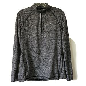 Medium-OLD-NAVY-ACTIVE-Womans-Half-Zip-Long-Sleeve-Pullover-Top