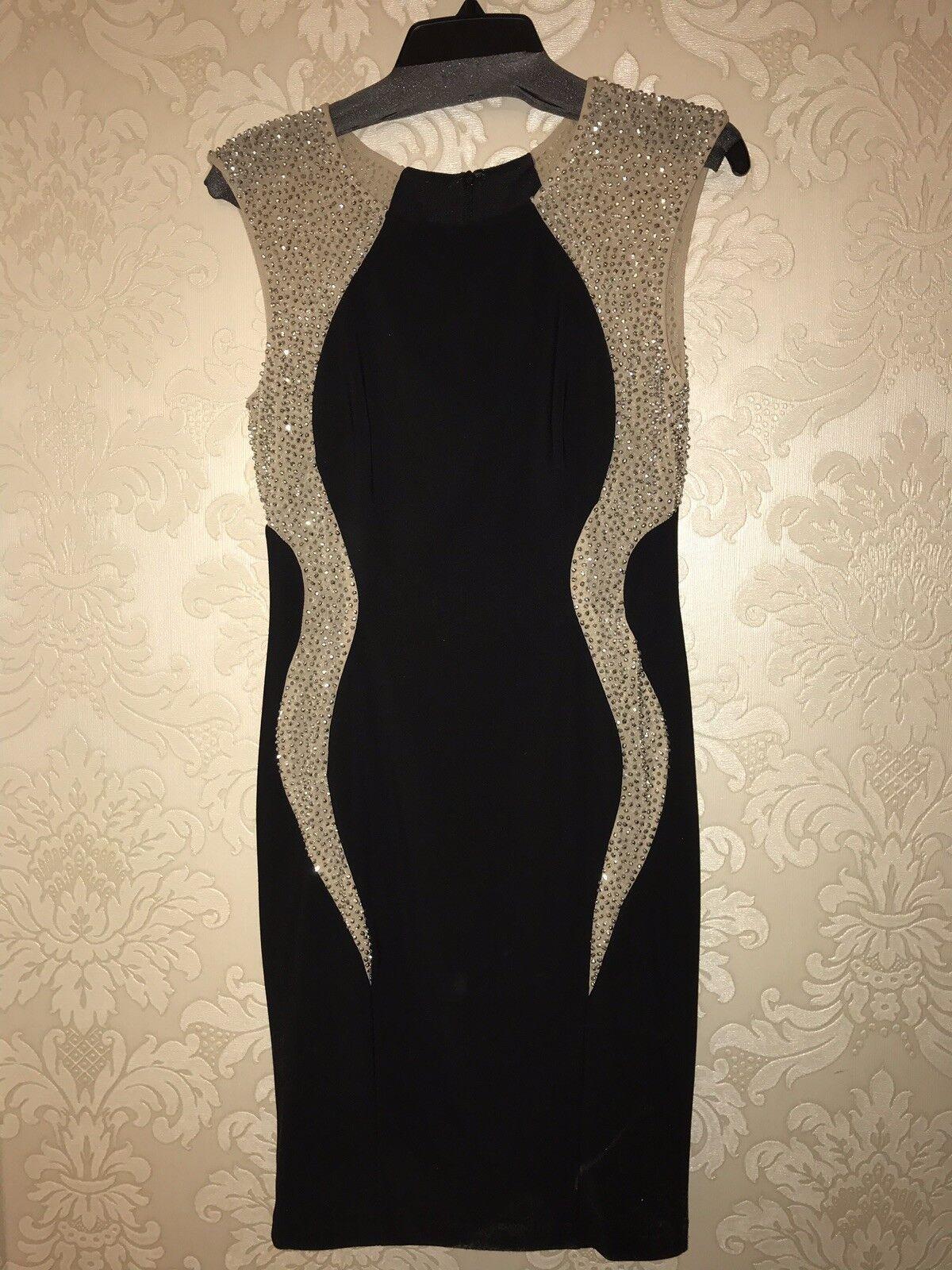Xscape damen's Mirror Ball Beaded Sleeveless Formal Dress Größe 4