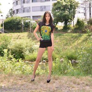 zoonamo-Camiseta-para-senoras-Brasil-Brasil-100-NUEVOS-Algodon-RIO-DE-JANEIRO