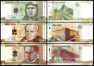 PERU-Set-3-Pcs-10-20-50-NUEVOS-SOLES-2012-2016-NEW-UNC