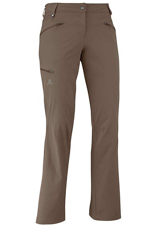 Weerhose Donna Pantaloni Salomon WAYFARER PANT W, Marronee, anche breve Diuominiioni