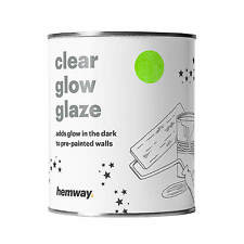 Hemway Glow in the Dark Paint Glaze 1L for Painting Walls Ceilings Bedrooms
