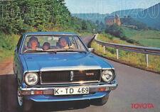 TOYOTA COROLLA 1200 (2- & 4-türig, Coupé, Combi) Prospekt / Brochure 1978 -----
