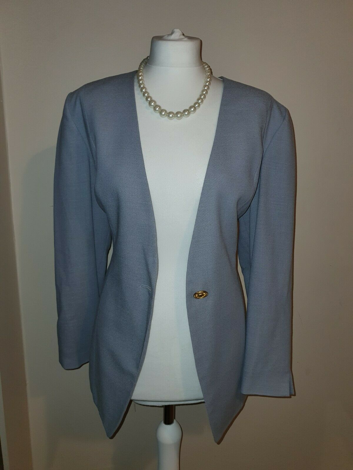 JAQUES VERT sky blue Mother Of The Bride Special Occasion Jacket Size 14