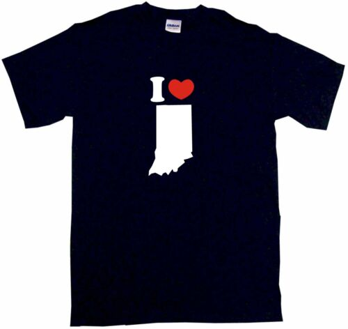 I Heart Love Indiana Silhouette Kids Tee Shirt Pick Size /& Color 2T XL